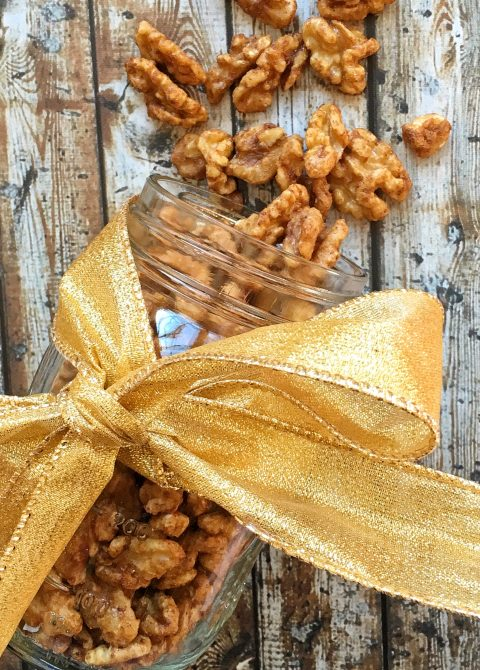 Cinnamon Spiced Roasted Walnuts