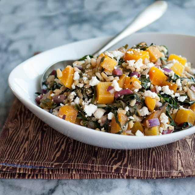 golden beet and barley salad