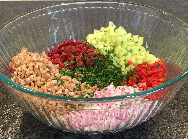 Meditarranean Farro Salad