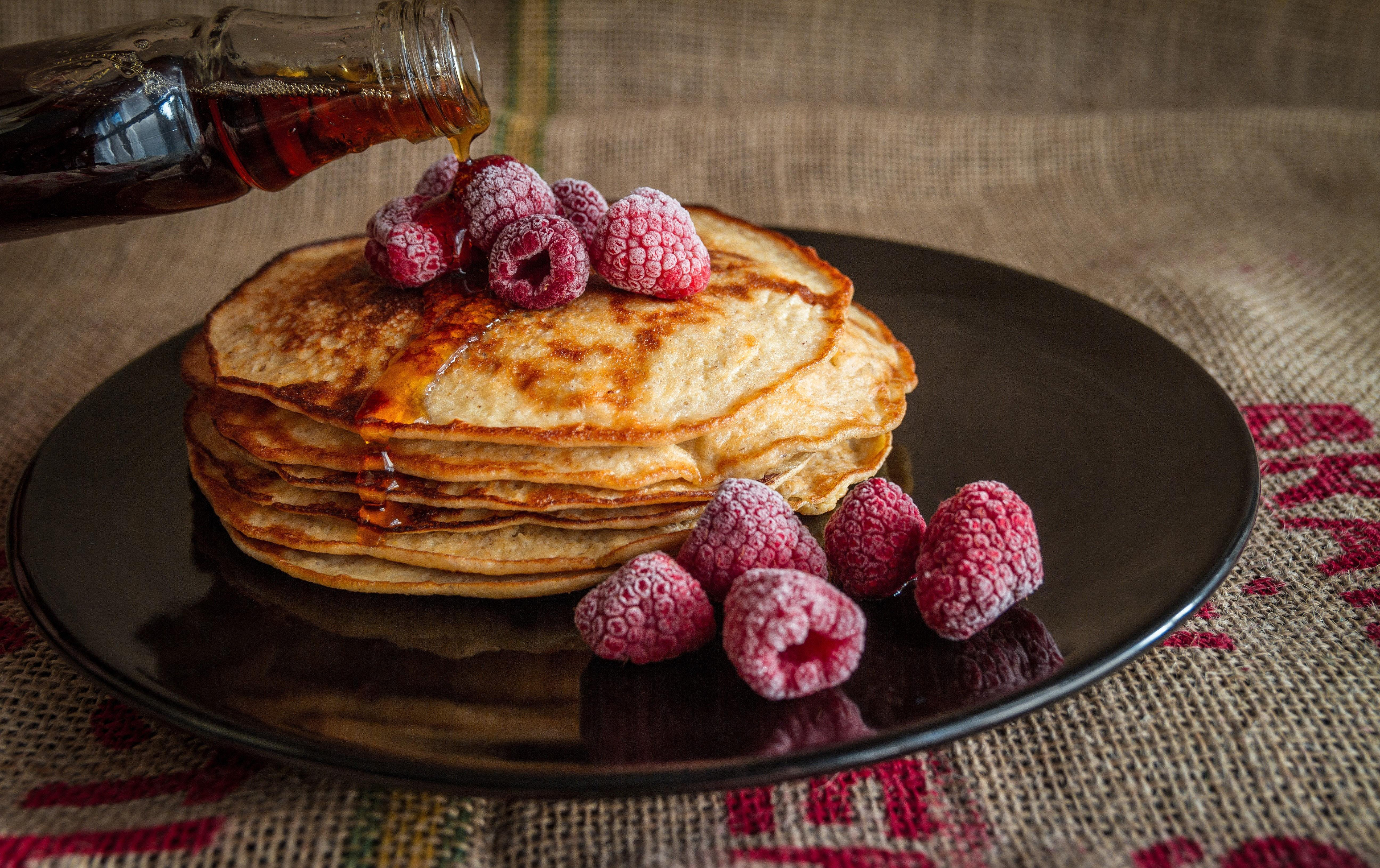 sweet potato pancakes with berries