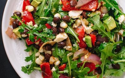 Grilled Summer Salad with chili lime dressing